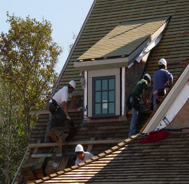 The Men Donahue Wood Roofing