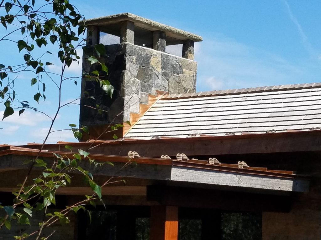 Cedar Shingle Chimney : Copper chimney flashing donahue wood roofing